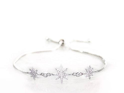 Starburst silver bracelet