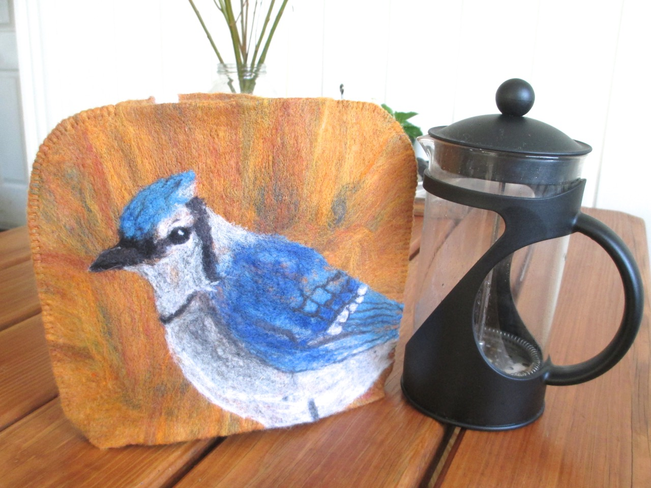 Blue Jay Coffee Press Cozy