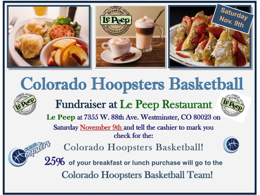Come to our Breakfast Fundraiser!