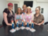 Saracino, Sugarcraft figurines, students work, 1950's pinup girl, sugarpaste figures, France, Ladies only, classes, workshops creative retreats, rhu strand sugarcraft teacher