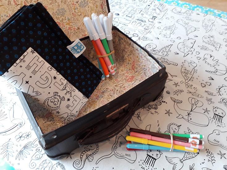 Location nappe et tapis à colorier