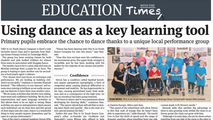 'danceaid' provide TIU dancer with new wheelchair