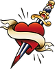 Heart Pierced with Sword