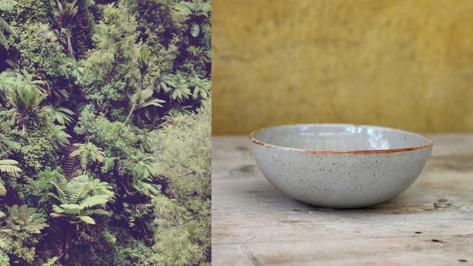 Pottery & Nature Diptych (Bowls Series) II David + Zuzana Marchandise for DAMAZU Studio