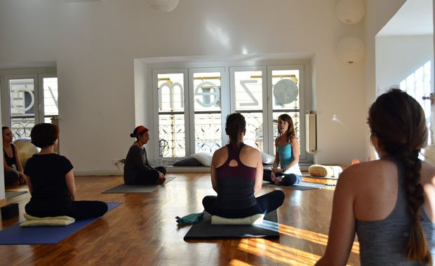 Zuzana at her former Zem Yoga Studio