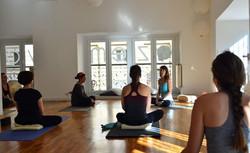 Zuzana at her former Zem Yoga Studio