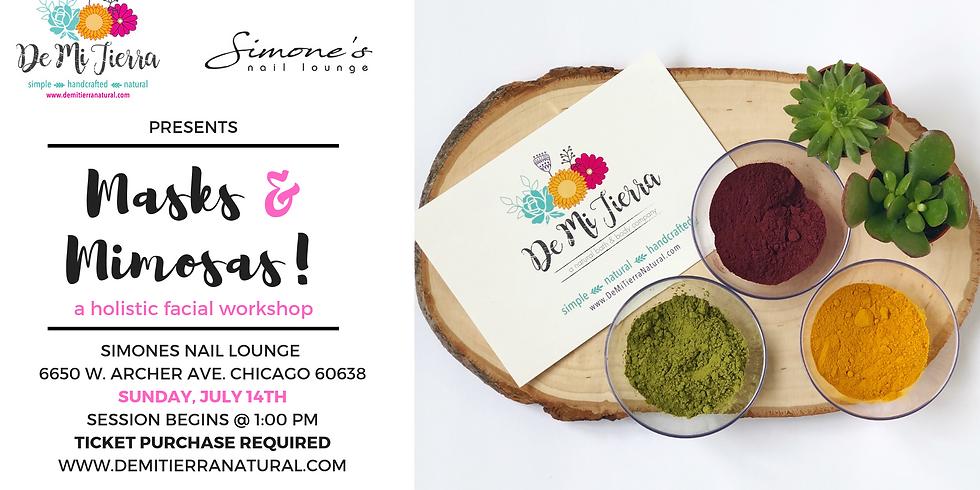 Masks & Mimosas a holistic facial workshop