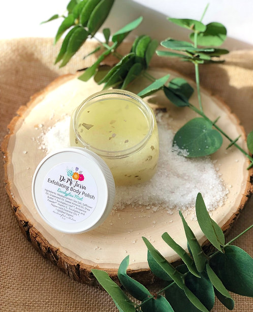 Exfoliating Body Polish Eucalyptus & Mint- Therapeutic Salt Scrub