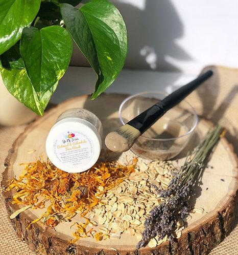 Soothing Oatmeal & Calendula Face Mask-Sensitive & Dry Skin