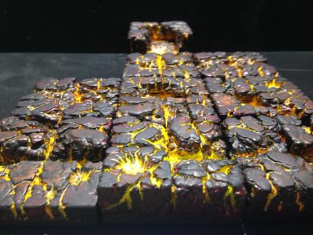 Lava Cavern Terrain Tiles