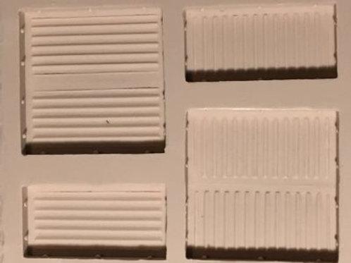 W20 - Sci-Fi Ridged Wall - Silicone Mold