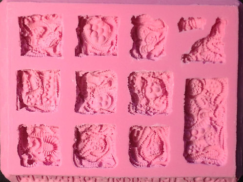 A03- Sci-Fi Alien / Organism Tile - Silicone Mold