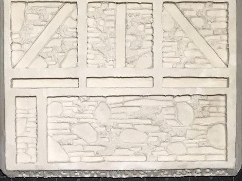 W29 - Damaged Stone Walls - Silicone Mold