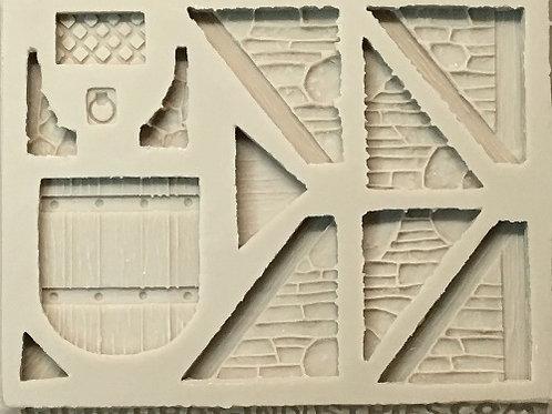 W34 - Tudor Stone Angle/Roof Walls - Silicone Mold
