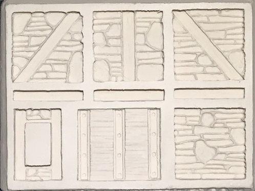 W22 - Tudor Stone Walls #1 - Silicone Mold