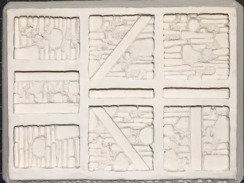 W30 -  Stone Skull Catacomb Walls - Silicone Mold
