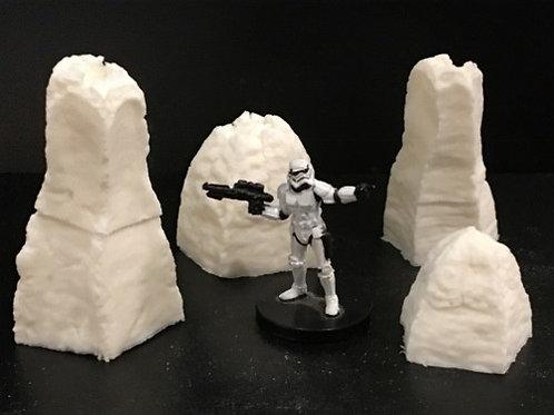 4B-004 Assorted Alien Terrain Pod and Pillars