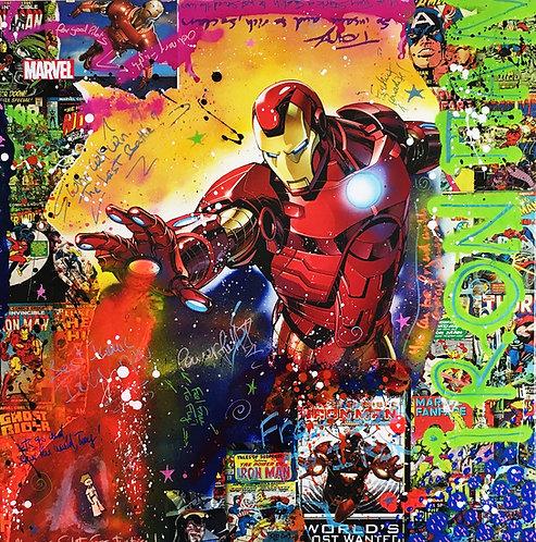 Iron-Man - Fury 80cm x 80cm