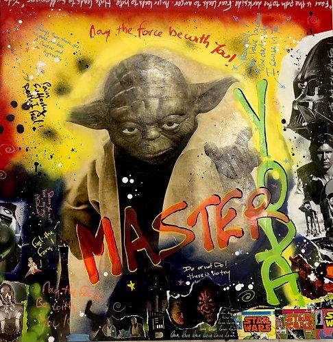 Yoda - 100cm x 100 cm - Phosphorescent