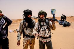 Goldsucher in der Sahara