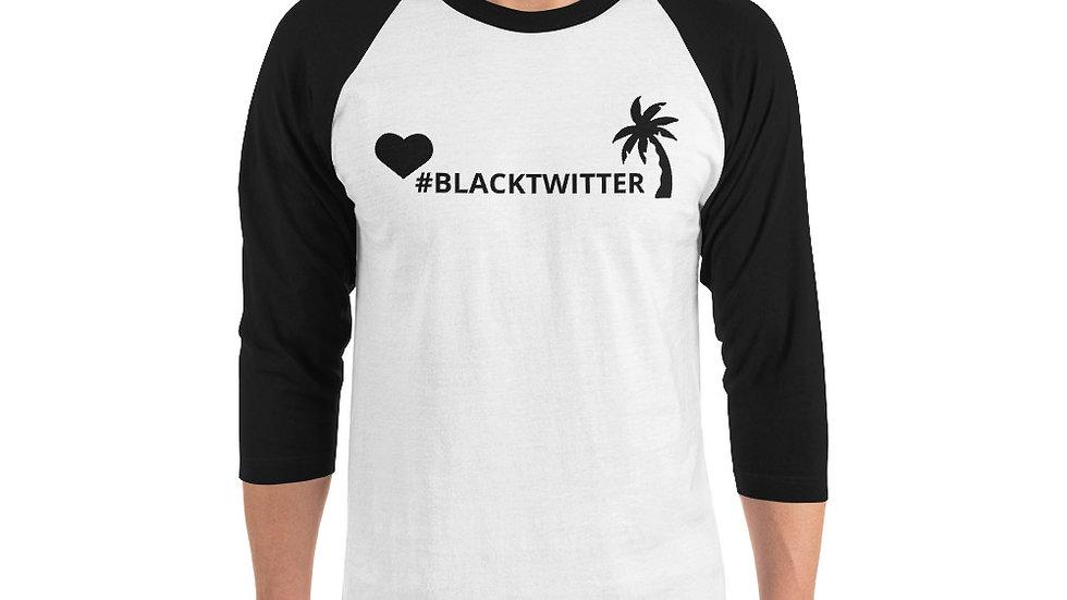 3/4 sleeve raglan shirt - KenYaaay/KenSlaaay heart #blacktwitter palmtree