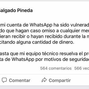 Hackean el WhatsApp de la gobernadora Evelyn Salgado