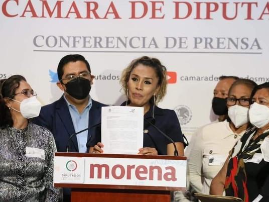 Araceli Ocampo, diputada de Morena, denuncia  ante ASF a Beatriz Vélez, dirigente de SNTS