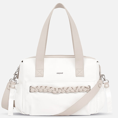 Mayoral Leather Braid Diaper Bag