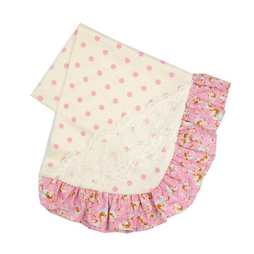 Haute Baby Daisy Bloom Receiving Blanket