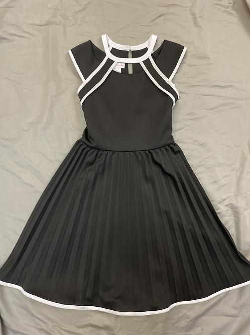 Bonnie Jean Black Pleated Dress