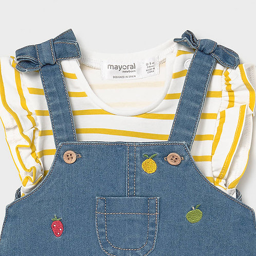 Mayoral Fruity Overall Dress Set