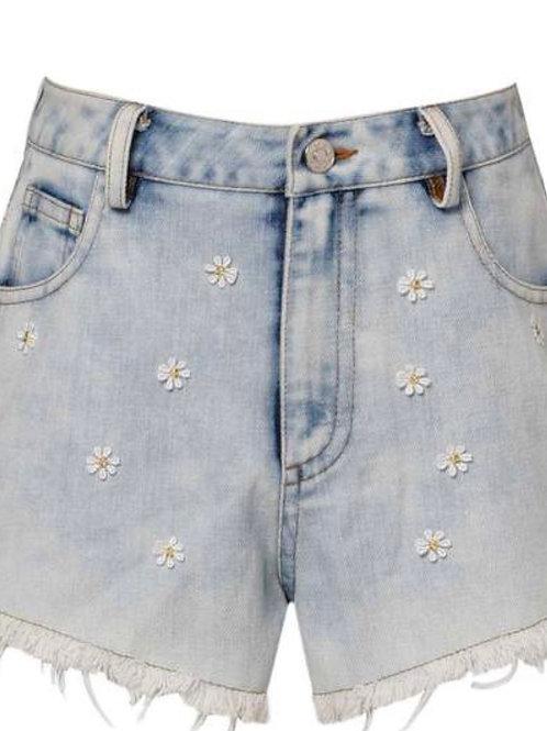 Hannah Banana Daisy Cut-Off Shorts