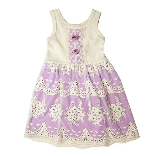 Haute Baby Lacy Lilac Dress