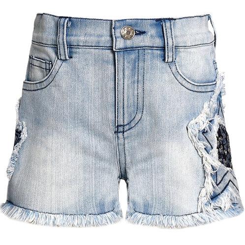 Baby Sara Stone Washed Denim Shorts