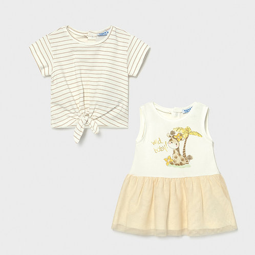 Mayoral Giraffe 2PC Dress Set