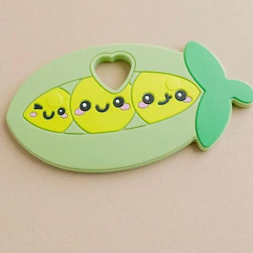 Three Hearts Peas in a Pod Teether
