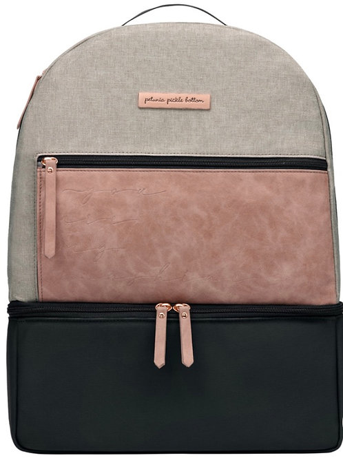 Petunia Pickle Bottom Axis Backpack in Rose/Sand
