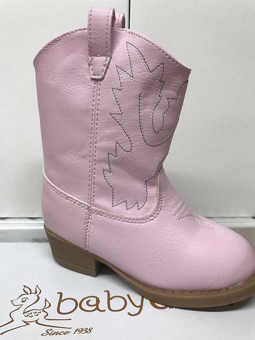 Baby Deer Pink Cowboy Boot