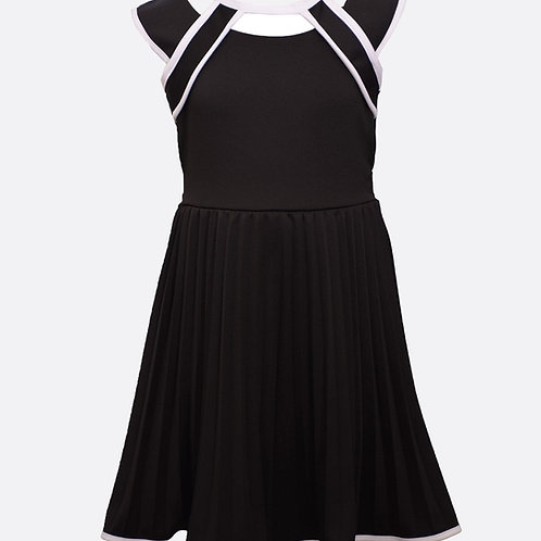 Bonnie Jean Black Pleated Dress