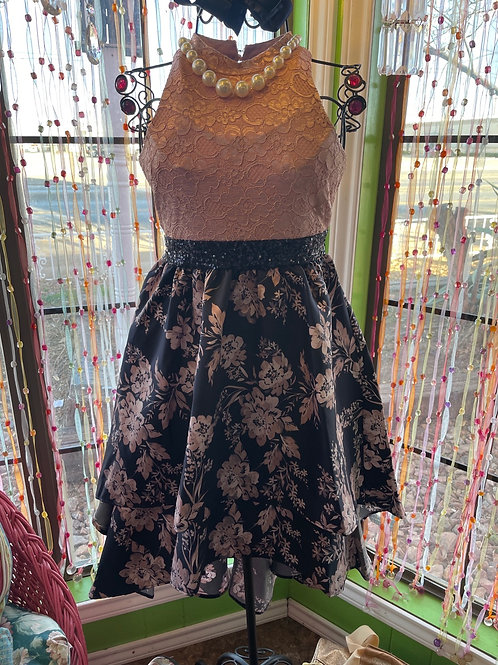 Bonnie Jean High Neck High-Low Dress