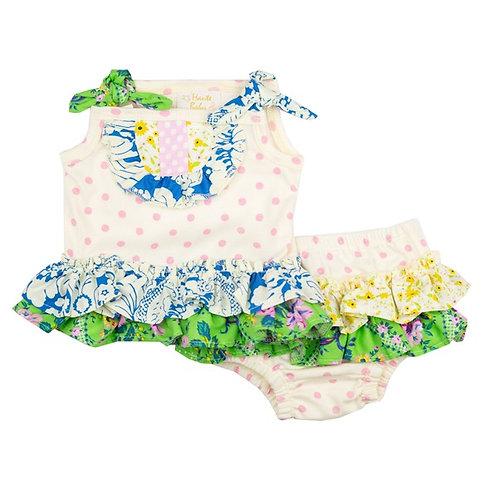 Haute Baby Daisy Bloom 2PC Diaper Set