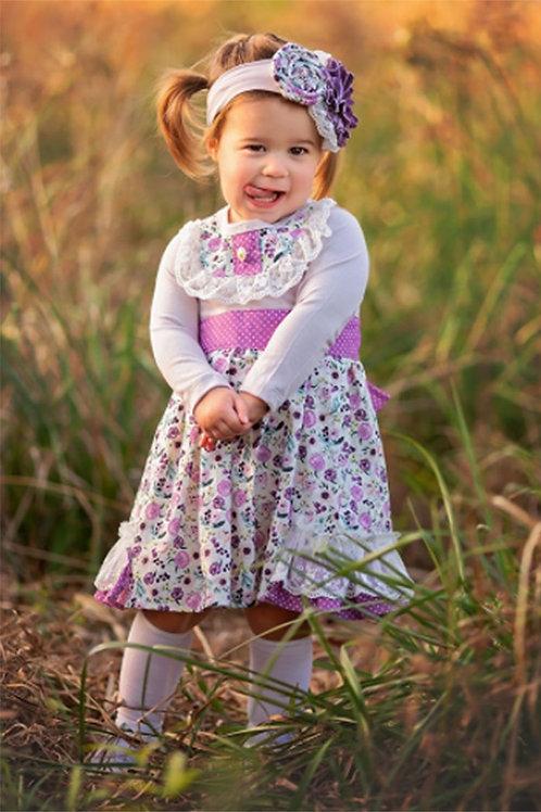 Haute Baby Plum Perfect Apron Dress