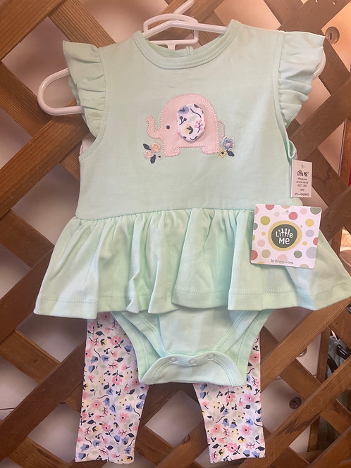 Little Me Elephant 2PC Set