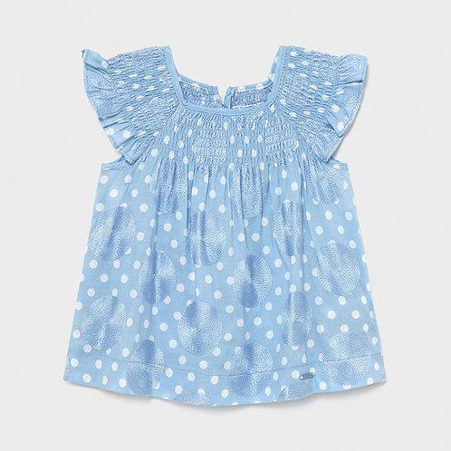 Mayoral Blue Dot Dress