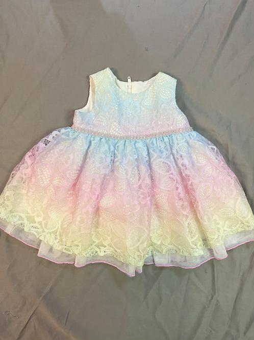 Bonnie Jean Ombré Rainbow Dress