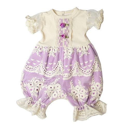 Haute Baby Lacy Lilac Bubble Romper