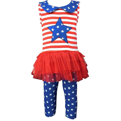 Ann Loren 4th of July American Flag Clothing Tunic Leggings
