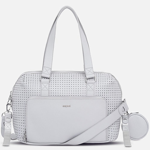 Mayoral Soft Leather Cut-out Diaper Bag