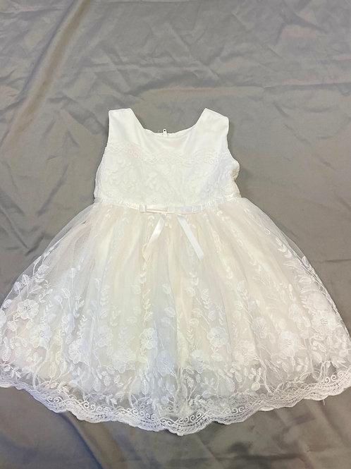 Popatu White Floral Lace Dress