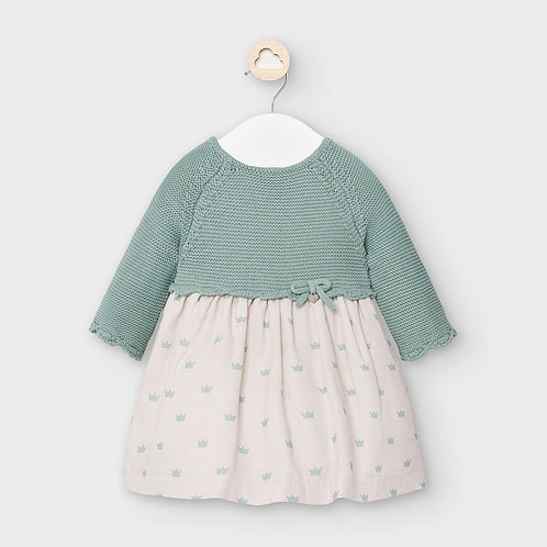 Mayoral Green Tea Sweater Dress
